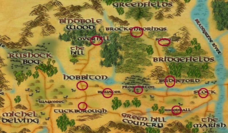lotro maps shire